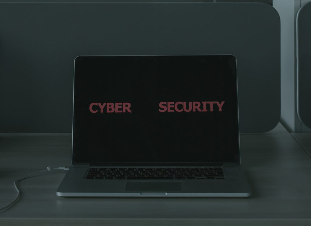 cyber security on a laptop